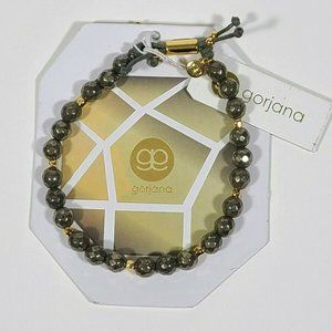 GORJANA Gray Pyrite Beaded Bracelet